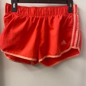 Pink neon Adidas Workout Shorts